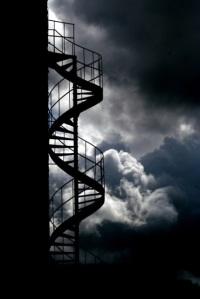 Treppe zum Bergfried von Altweilnau
